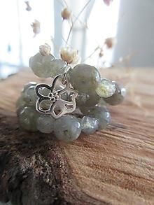 Náramky - Labradoritový s kvetom - 12586925_