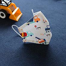 Rúška - Rúško pre deti - Stavebné stroje - 12587944_