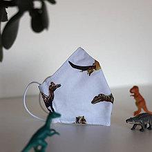 Rúška - Rúško pre deti - Dinosaury neprešité - 12588006_