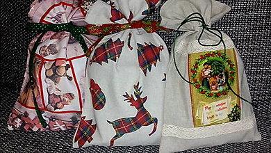 Úžitkový textil - mikulášske vrecká - 12584168_