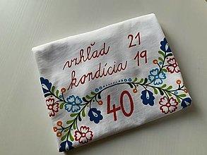 Tričká - Folkové dámske maľované tričko (k 40tke) - 12587665_