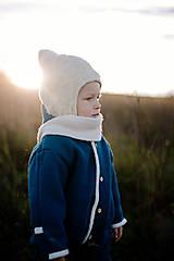 Iné oblečenie - Detský vlnený overal PETROLEJOVÝ - 12582828_