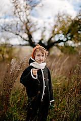 Detské oblečenie - Detský vlnený overal ANTRACITOVÝ - 12582832_