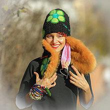 Čiapky - Origo čiapka BASETKA kvety - 12585747_