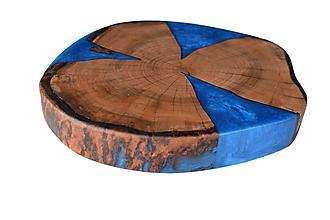 Nádoby - Podnos zo starého dreva epoxy pearl - 12588699_