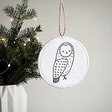 "Dekorácie - Ozdoba ""Nordic Owl"" - 12583775_"