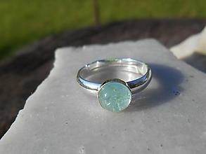 Prstene - AKVAMARINA-blue-akvamarín-prsteň - 12593870_
