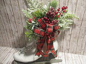 Dekorácie - Vianočná dekorácia - korčuľa - 12592559_