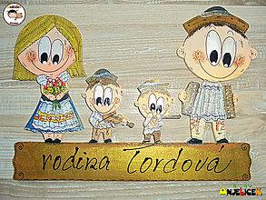 Tabuľky - Menovka - rodinka v krojoch - 12592041_