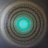 Obrazy - NEKONEČNÁ LÁSKA A ŠŤASTIE ♥ (smaragd) 80 x 80 - 12593033_