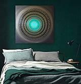 Obrazy - NEKONEČNÁ LÁSKA A ŠŤASTIE ♥ (smaragd) 80 x 80 - 12593050_