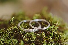 Prstene - Vetvičky snubné zlaté, jednoduché - 12590178_