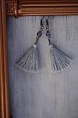 Náušnice - Malé strapcové zafírovky - 12592769_