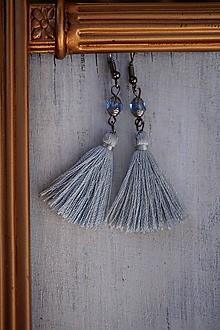 Náušnice - Malé strapcové zafírovky - 12592749_