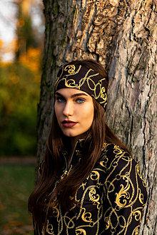 Ozdoby do vlasov - Termo čelenka OMNIA BLACK - 12589039_