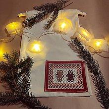 Úžitkový textil - Vianočné/mikulášske vrecúška - Malé - 12594036_