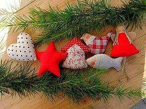 Dekorácie - Vianočné ozdoby, základná sada Vintage Red - 12590839_