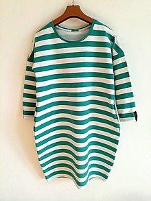Šaty - Pohodlne šaty s 3/4 rukavom - 12593143_