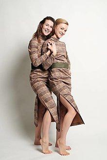 Šaty - Dlhé kárované šaty - 12592247_