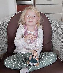Detské doplnky - Ružové detské šnúry - 12593846_