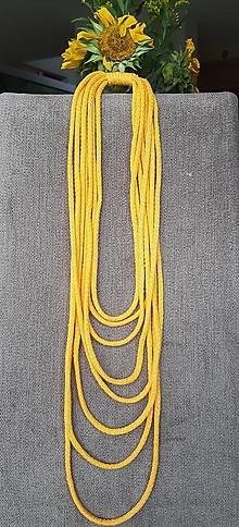 Náhrdelníky - Zlatožlté šnúry - 12593910_