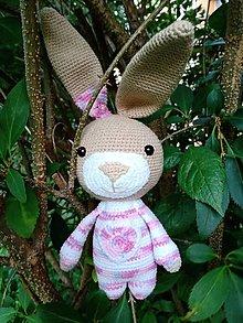 Hračky - Zajačik s veľkými uškami - 12595018_