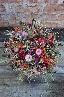 Dekorácie - Kytica zo sušených kvetov - 12599319_