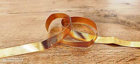 Galantéria - Ozdobná stuha 12 mm - Zlatá - 12598919_