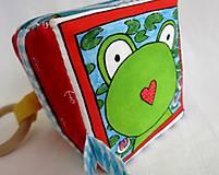 Hračky - Úchopová kocka - žabka - 12596410_