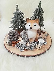 Dekorácie - Vianočná dekorácia s líštičkou - 12597526_