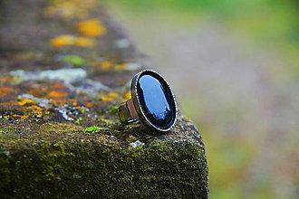 "Prstene - Nerezový prsten... ""Lady black "" - 12598233_"