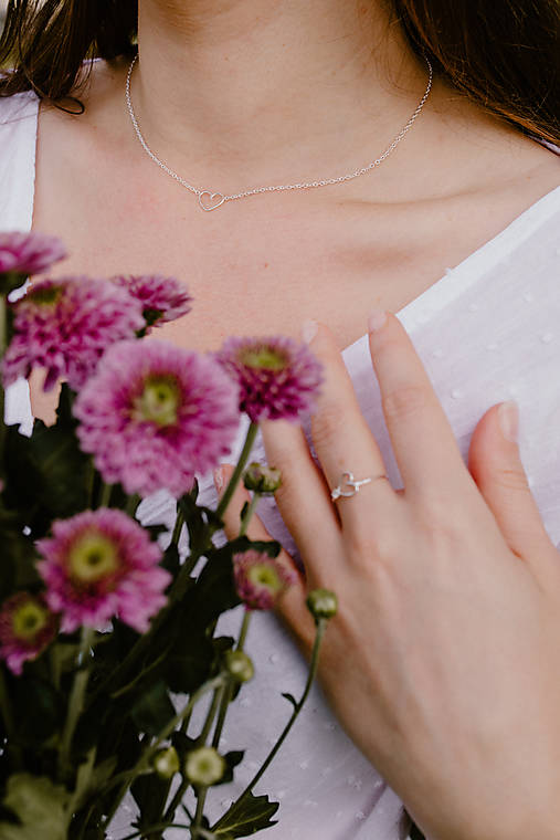 Strieborný náhrdelník so srdiečkom