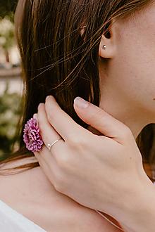 Sady šperkov - Strieborný set - náušnice a prsteň s guličkou - 12599430_