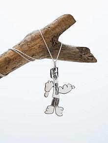 Náhrdelníky - Prívesok z detskej kresby - veľký - 12600091_
