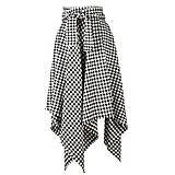 Sukne - NESSA - cípová károvaná zavinovacia sukňa s viazačkou - 12594969_