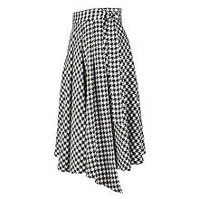 Sukne - ASTRID - áčková zavinovacia sukňa so skladmi a predným cípom (G4 - kohútia stopa veľká) - 12595311_