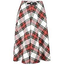 Sukne - AILI - midi sukňa s prackou (Bieločervené káro) - 12595426_