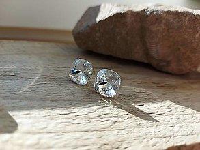 Náušnice - Swarovski crystal cushion - 12600190_
