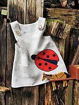 Detské oblečenie - Detská šatová suknička ľanová - lienka - 12595980_