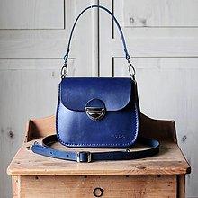 Kabelky - Malá kožená kabelka *royal blue* - 12594419_