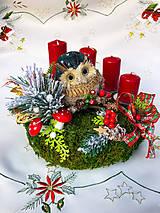 Dekorácie - Adventný veniec so sovičkou - 12598908_