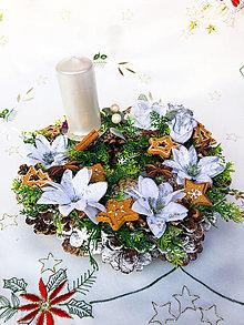 Dekorácie - Zimný veniec - medovníček - 12598744_