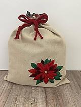 Úžitkový textil - Podšité vrecko na chlieb z ľanového plátna s ručnou výšivkou - 12595489_
