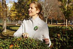 Odznaky/Brošne - Brošňa zelený kvet - 12600350_