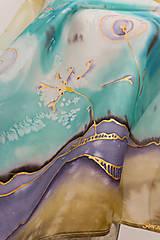 """Šatky - Maľovaná hodvábna šatka """"Seeds"""" - 12600333_"""