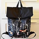 Batohy - RollTop ruksak Rolly (čierny les) - 12604949_
