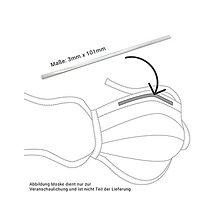 Polotovary - Kovový prúžok PRYM do rúška - 8 ks - 12600802_