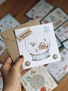 Papiernictvo - Vianočná pohľadnica Chalúpka - 12605725_