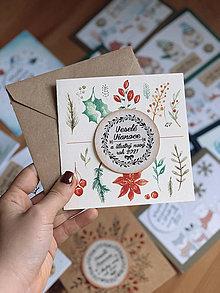 Papiernictvo - Vianočná pohľadnica Vetvičky - 12605736_