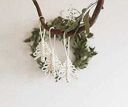 """Dekorácie - vianočná makramé ozdoba """"stromček"""" - 12601392_"""